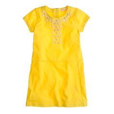 Girls' embellished tee dress. Crewcuts