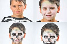 Maquillajes de Halloween: esqueleto