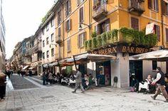 angolo di via Fiori Chiari, la nuova via della moda a Milano.