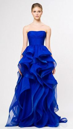 coco-is-haute:  Reem Acra Resort 2013 don't need a gown love the color