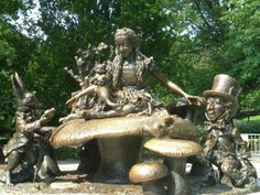 Alice's Adventures in Wonderland Statue: Central Park, NYC, NY