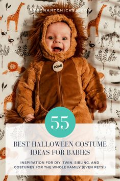 55 of the best ideas for funny baby Halloween costumes! Whether it's your baby's first Halloween or you're dressing a whole family click through for DIY costumes for boys girls infants siblings or for a mom and newborn. Funny Baby Halloween Costumes, Diy Costumes For Boys, Baby First Halloween, Boy Costumes, Creative Halloween Costumes, Spooky Halloween, Costume Ideas, Lego Costume, Sibling Costume