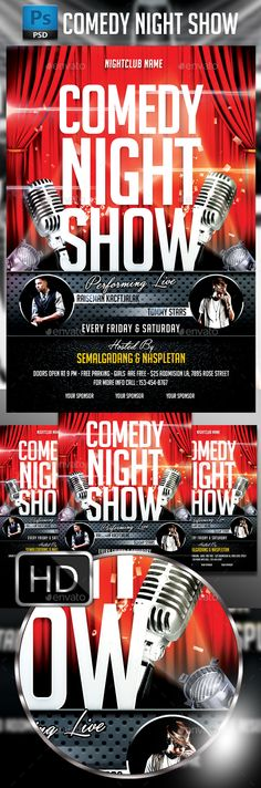 Comedy Night Flyer Template | Comedy Nights, Flyer Template And
