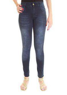 Calça Jeans Biotipo Feminina Cintura Média