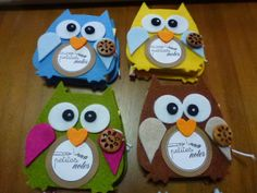 porta post-it Creative Activities For Kids, Crafts For Kids, Diy Paper, Paper Crafts, Post It Holder, Shots Ideas, Owl Crafts, Cute Owl, Big Shot