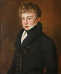 """Portrait of a Young Gentleman of the Bazely Family"" -- by the British School; National Trust, Dudmaston"