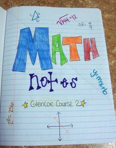 Math-n-spire: Math Notebook {Notes} designed by a middle school math teacher Math Teacher, Math Classroom, Teaching Math, Classroom Ideas, Teaching Ideas, Teacher Stuff, Teacher Tools, Classroom Inspiration, Future Classroom