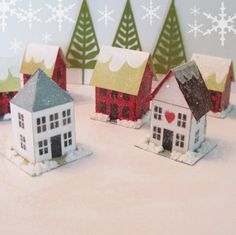 PDF Pattern for Paper Glitter Colonial House by CherieWheeler, $6.00