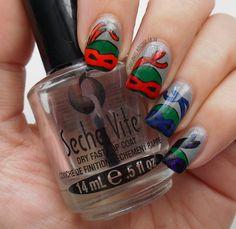 Catching up on some nail art !   Starfish Nails & Jewellery Teenage Mutant Ninja Turtles Nail art
