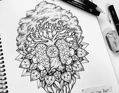 Yggdrasil mandala tattoo design