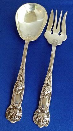 Silver Serving Set Italian Silver Spoon Silver Fork