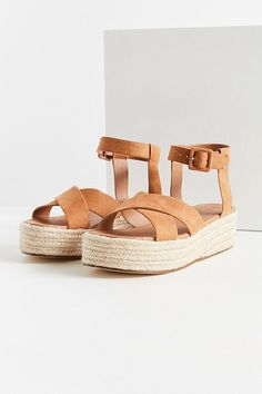 Slide View: 2: Cora Flatform Espadrille Sandal