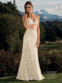 Vestido de novia / wedding dress confeccionado en Guipiure de algodón