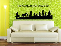 Large Fellowship Wall Decal Featuring Iconic Quote - J.R.R. Tolkien Lord of the Rings Wall Art. $40.00, via Etsy.