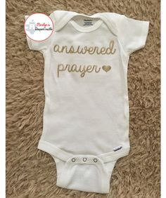 Answered Prayer Baby Onesie  Christian by MarilynsDiaperCastle