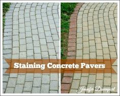 Concrete Patio Pavers   Concrete Stain Ideas For An Update!