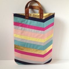 Art-Inspired Chevron Tote Bag