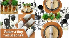 Father's Day Masculine Tablescape Ideas 🍽 Festive Crafts, Bird Party, Table Set Up, Party Ideas, Gift Ideas, Different Textures, Craft Party, Festival Party, Best Part Of Me