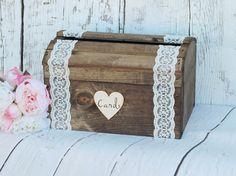 Rustic Wedding Card Box Wood Card Box by DownInTheBoondocks