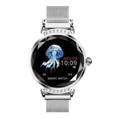Newest Fashion Women Smart Sport Watch Diamond Glass Heart Rate Sleep Monitor Best Gift Magnetic Strap Smartwatch Wristband with Gift Box from # brand. Sport Watches, Cool Watches, Watches For Men, Woman Watches, Smartwatch, Rolex, Swiss Army Watches, Beautiful Watches, Elegant Watches