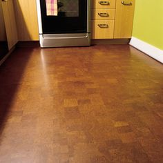 Cork flooring snaps on easy and is a nice way to keep your toes warm in the winter!
