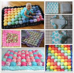 How to make bubble quilt for your baby – Fun, Easy and Beautiful! How to make bubble quilt for your Puff Blanket, Bubble Blanket, Bubble Quilt, Baby Crafts, Diy Crafts For Kids, Biscuit Quilt, How To Make Bubbles, Selling Crochet, Puff Quilt