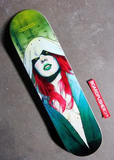 """Can't go too long without showing you a Featured Deck from Keith P. Rein. Today it's """"Through the Woods..."""" which is available alongside Keith's other skateboard graphics at www.BoardPusher.com/shop/thepisforpenis."""