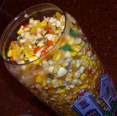 Fiesta Corn Relish - from Small Batch Preserving I make without added salt. My favorite health fitness; Corn Relish Recipes, Chutney Recipes, Chow Chow Recipe, Canning Vegetables, Fresh Vegetables, Veggies, Canning Food Preservation, Preserving Food, Canned Corn