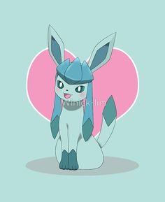 """Glaceon with """"love"""" symbol"""