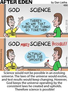 - Jesus Quote - Christian Quote - After Eden: Science Works! The post Science Works! appeared first on Gag Dad. Christian Comics, Christian Cartoons, Christian Jokes, Christian Faith, Christian Signs, Jesus Quotes, Bible Quotes, Jesus Cartoon, Bible Cartoon
