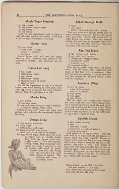 Southern Cook Book of Fine Old Dixie Recipes Retro Recipes, Old Recipes, Vintage Recipes, Cookbook Recipes, Cooking Recipes, Fast Recipes, Homemade Cookbook, Recipes Dinner, Brunch Recipes