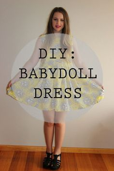 Fashion Collective: DIY | Easy Babydoll dress