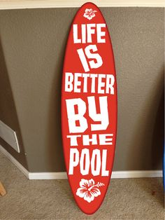 surf board surfboard decor hawaiian beach surfing beach decor Pool decor, Pool Signs