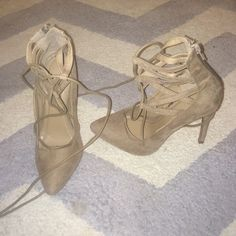 Tan strapped high heels Brand new tan strapped high heels! Charlotte Russe Shoes Heels