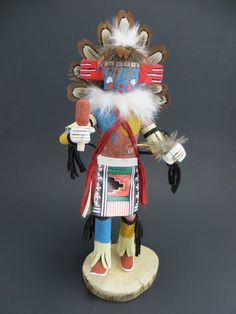 """Gorgeous Hopi Kachina Doll """"Morning Singer"""" 10 1 2"""" by Navajo Artist K Largo 