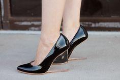 PVC detail shoes