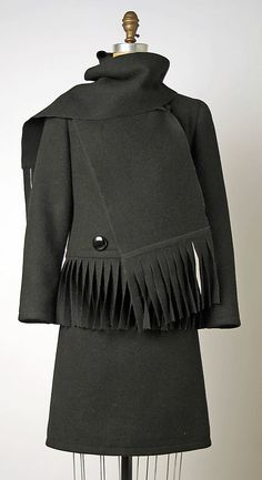 Suit, Pierre Cardin, 1969, French, wool and silk