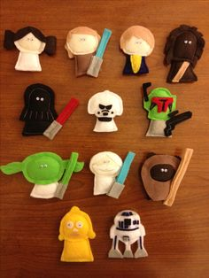 Calvin's Star Wars Crib Mobile characters