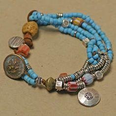 # Tutorial - beadshop.com   Across Cultures Bracelet- Turquoise Padre.htm