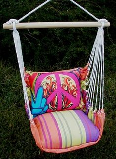 Bon Temps Peaceful Hammock Chair Swing Set - Click to enlarge