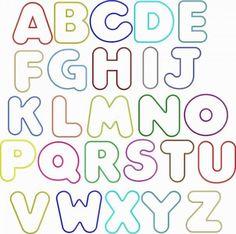 Bubble Letter Alphabet