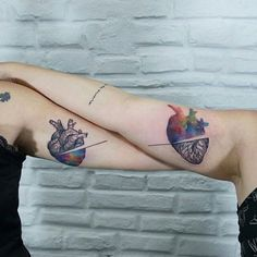 Epic brain tattoos by Paulo Victor Skaz