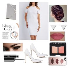 """""""White"""" by crystalcynthia ❤ liked on Polyvore featuring Charlotte Russe, Givenchy, Jennifer Meyer Jewelry, MAC Cosmetics, NARS Cosmetics, Casetify, Tiffany & Co. and She's So"""