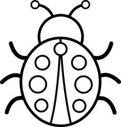 ladybug coloring bug clip printable line