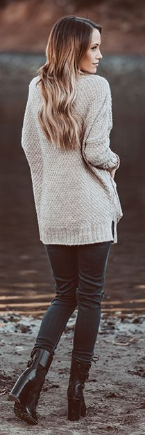 Grey Street Chic Cable Knit Cardi by Styled Avenue