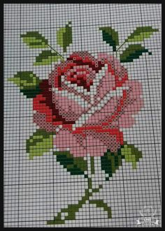 New embroidery flowers rose free pattern 24 ideas Cross Stitch Art, Cross Stitch Borders, Cross Stitch Designs, Cross Stitching, Cross Stitch Embroidery, Embroidery Patterns, Cross Stitch Patterns, Cross Stitch Flowers Pattern, Tapestry Crochet