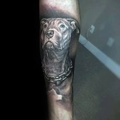 f75681a38 Man With Inner Arm Tattoo Of Dog Memorial Design Inner Arm Tattoos, Dog  Tattoos,