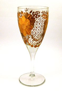 guilded wine glass