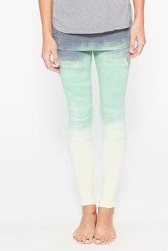 43f851ba03e34 Omgirl Nomad Legging in Horizon- Tie-Dye Vineyard Green Bold Stripes, Yoga  Wear