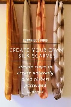 Create your own beautiful silk scarves using shibori techniques described in the Townhill Studio blog.